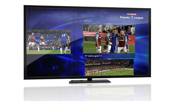 sky q split-screen football highlights