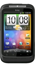 HTC Wildfire S Black front