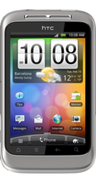 HTC Wildfire S front