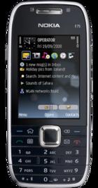 Nokia E75 Black front