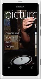 Nokia Lumia 800 White front