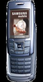 Samsung E250 Blue back