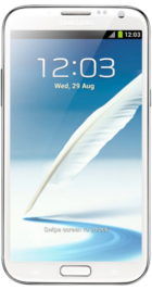 Samsung Galaxy Note 2 White front