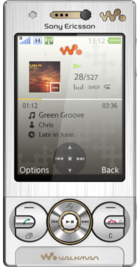 Sony Ericsson W715 Silver front