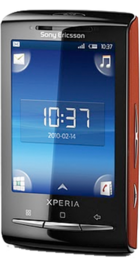 Sony Ericsson Xperia X10 Mini Red back