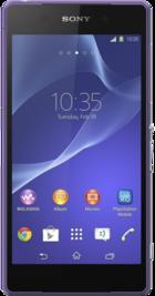 Sony Xperia Z2 Purple front