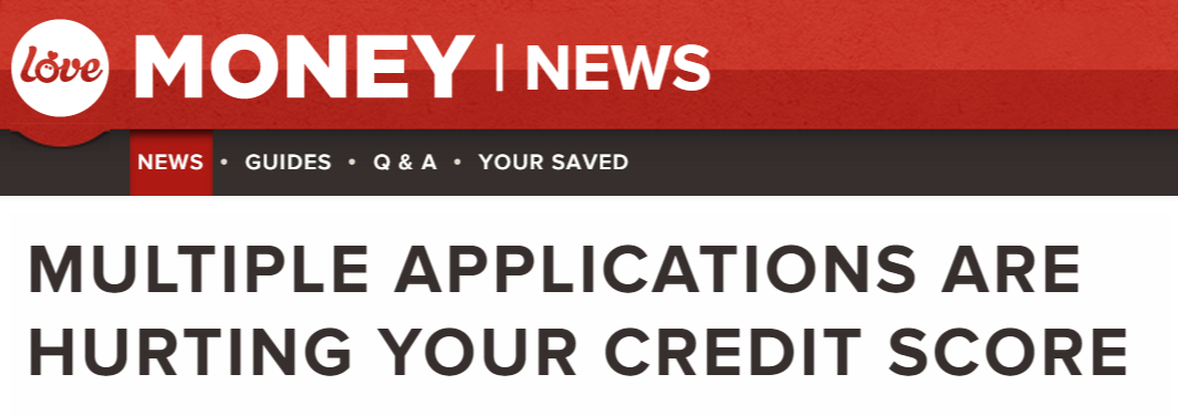 Multiple applications are hurting your credit score