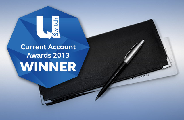 uSwitch Current Account Awards logo and cheque book