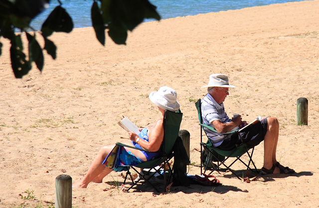 Life's a beach? Not according to a new study from HSBC showing many Britons expect to keep working into their later years.