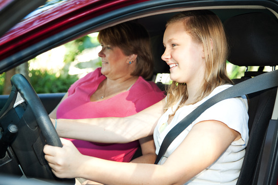 Car insurance fronting - mother and daughter in a car