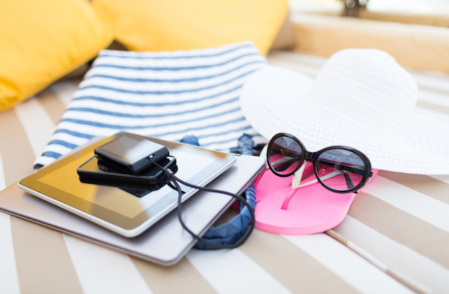 gadgets on holiday