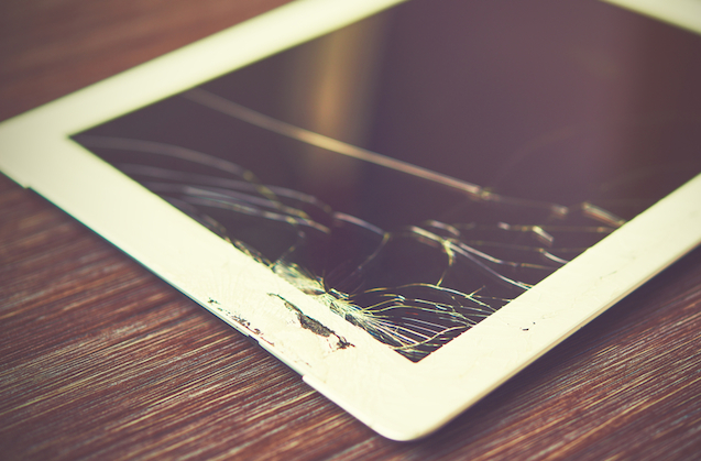 damaged ipad that could have been covered by home insurance accidental damage cover