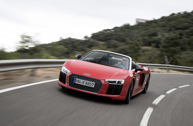 most expensive cars to insure - Audi R8 Spyder